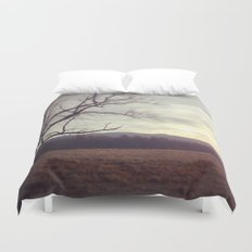 Golden Mountains Duvet Cover