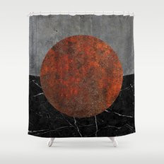 Abstract - Marble, Concrete, and Rusted Iron II Shower Curtain