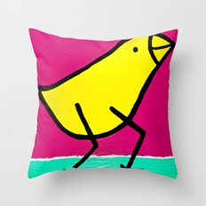 L. Bird Throw Pillow