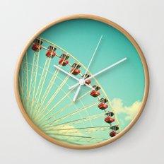 Summer at Navy Pier Wall Clock