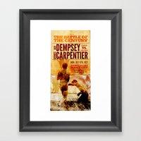 The Battle Of The Centur… Framed Art Print