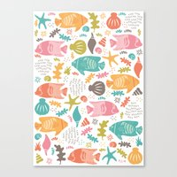 Retro Fish Canvas Print