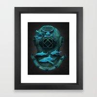 Deep Diving Framed Art Print