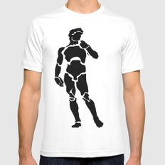 David White SMALL Mens Fitted Tee