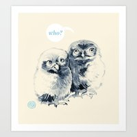 Who's There? Art Print