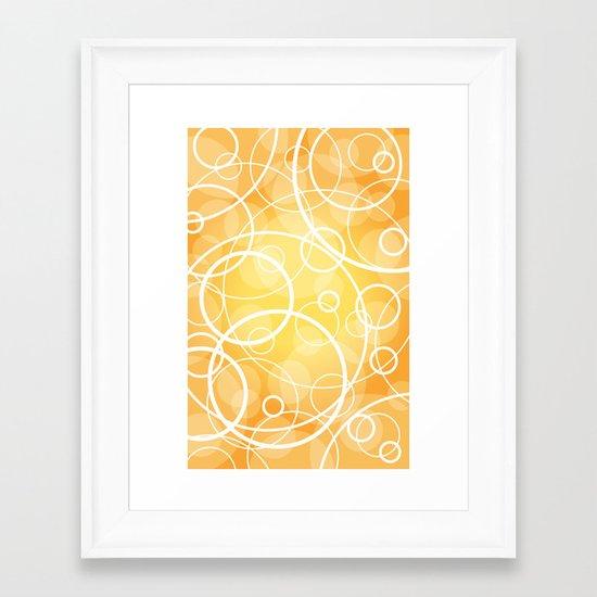 Hard Line Bokeh Framed Art Print