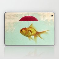 Laptop & iPad Skin featuring Under Cover Goldfish 02 by Vin Zzep