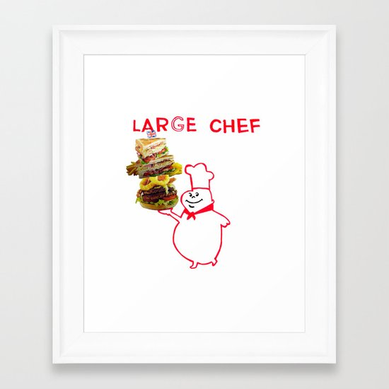 large chef Framed Art Print