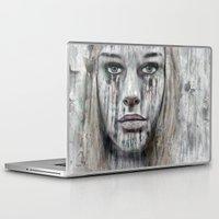 woman Laptop & iPad Skins featuring woman by teddynash