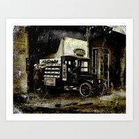 NuGrape Delivery Truck Art Print