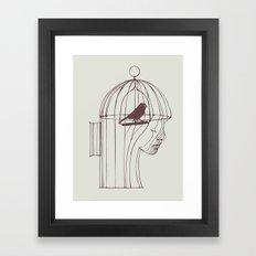 Be Alone Framed Art Print