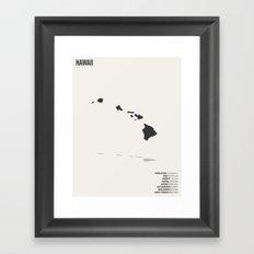 Hawaii Minimalist State … Framed Art Print