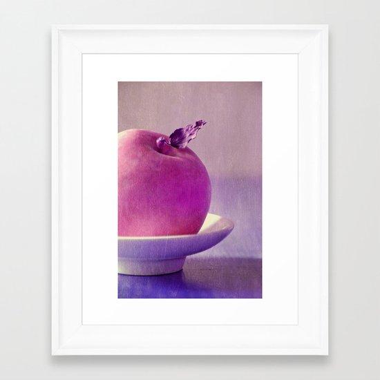 pink apple Framed Art Print