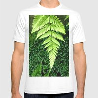 Fern  Mens Fitted Tee White SMALL