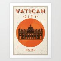 Vintage Vatican Museum P… Art Print