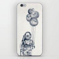 Balloon Fish - monochrome option iPhone & iPod Skin