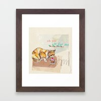 Illustration Friday- Dessert Framed Art Print