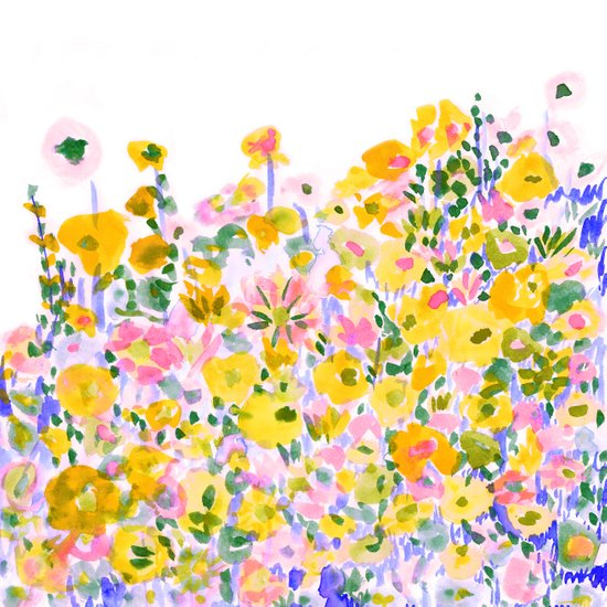Flower Fields Sunshine Art Print