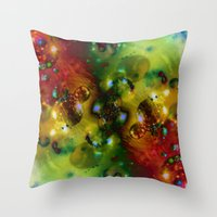Cosmic Timewarp Throw Pillow