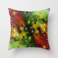 Cosmic Timewarp Throw Pillow