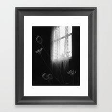 Window Flowers Framed Art Print
