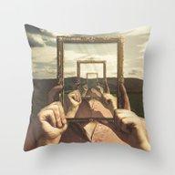 Empty Frame Throw Pillow