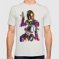 Daft Punk  Mens Fitted Tee Silver SMALL