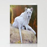 Rare White Lion  Stationery Cards