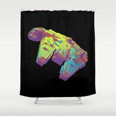 Millennium Falcon Bright Colors Shower Curtain