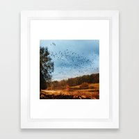 Migrations. Framed Art Print