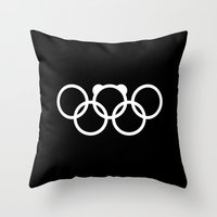 Olympic games logo 2014. Sochi. Bear. Throw Pillow
