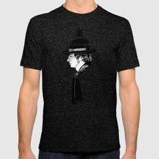 Lennon.John Mens Fitted Tee Tri-Black SMALL