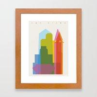 Shapes Of San Diego Framed Art Print