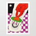 Tea with Satan. 2014.  Art Print