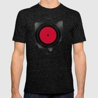 OHIO 33⅓ rpm LP Record Mens Fitted Tee Tri-Black SMALL