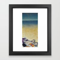 Meik Beach Date  Framed Art Print