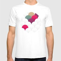 Abstract 13 Mens Fitted Tee White SMALL