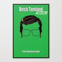 Brick Tamland: Weather Canvas Print