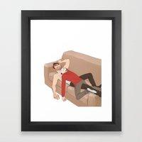 The Drooling Human Blank… Framed Art Print