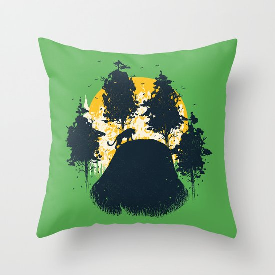 Wildlife Habitat Throw Pillow