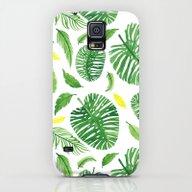 Palm Leaf Pattern Galaxy S5 Slim Case
