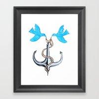 Sam Anchor Of Love Framed Art Print
