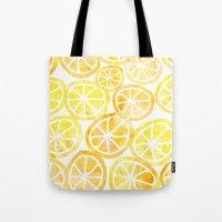 Yellow Lemon In Watercol… Tote Bag