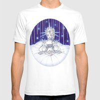 Christmas Star Mens Fitted Tee White SMALL