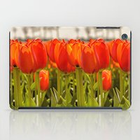 Tulips standing tall iPad Case