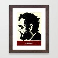 Kubrick Portrait Framed Art Print