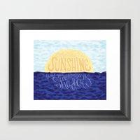Face the Sunshine Framed Art Print