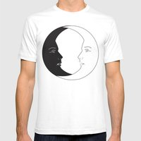 ying yang luna Mens Fitted Tee White SMALL