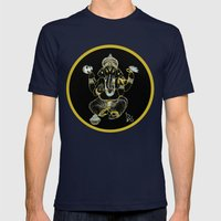 GANESHA Mens Fitted Tee Navy SMALL