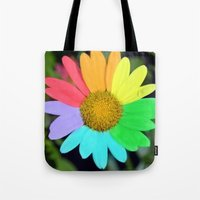 colorful daisy Tote Bag